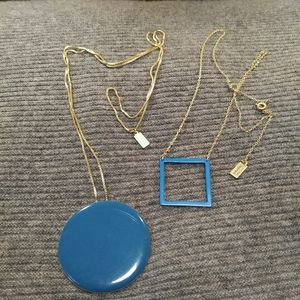 Kate Spade Geometry Pendant-Necklaces, Blue